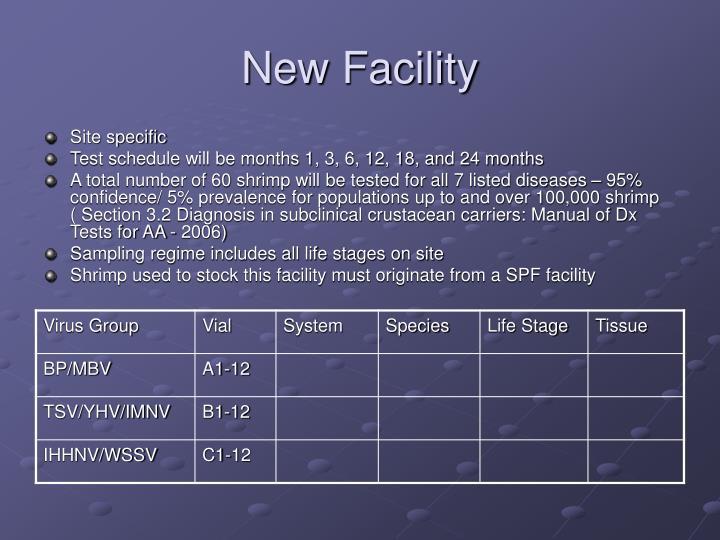 New Facility