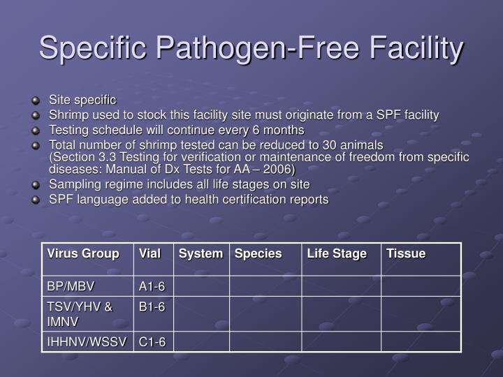 Specific Pathogen-Free Facility