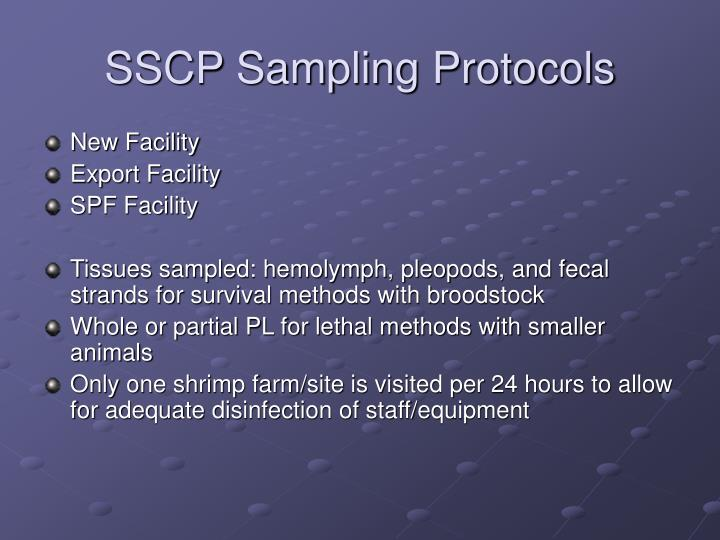 SSCP Sampling Protocols