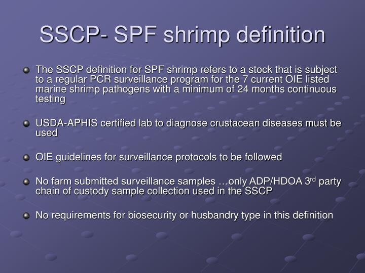SSCP- SPF shrimp definition