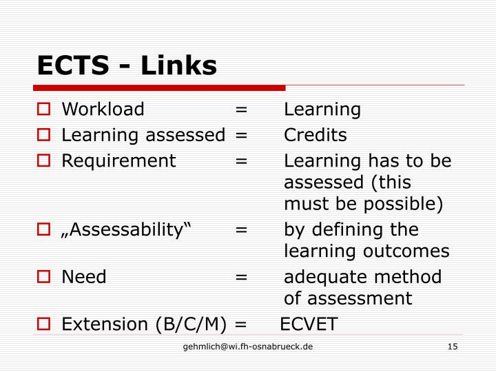 ECTS - Links