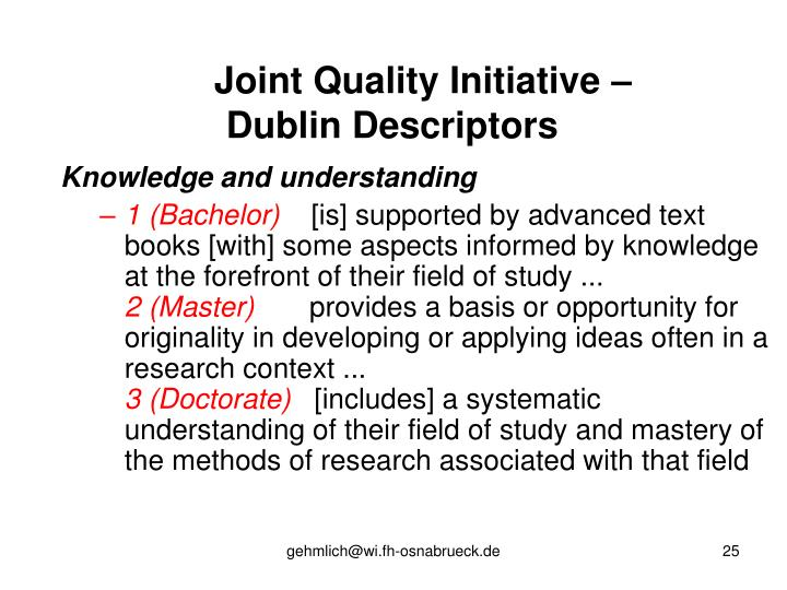 Joint Quality Initiative –