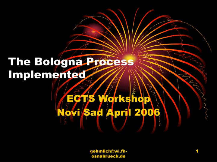 The Bologna Process Implemented