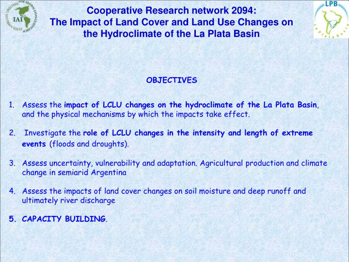 Cooperative Research network 2094: