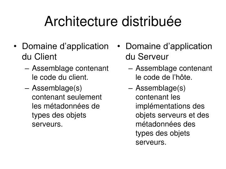 Domaine d'application du Client