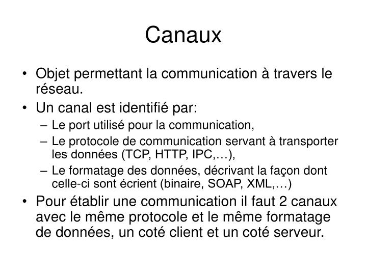 Canaux