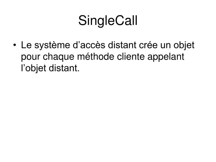SingleCall