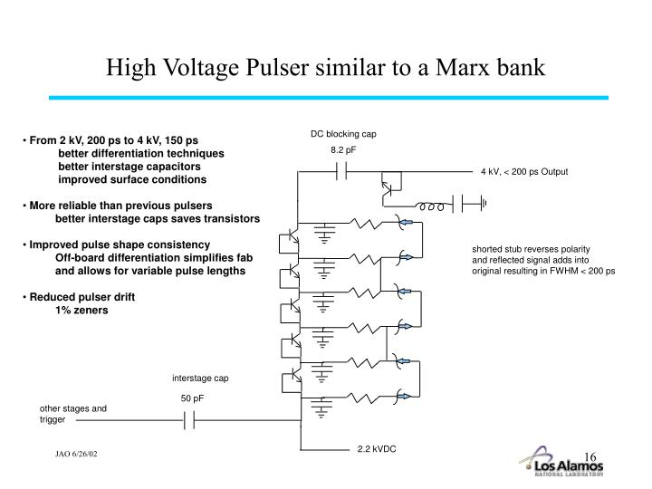High Voltage Pulser similar to a Marx bank