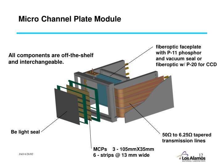 Micro Channel Plate Module