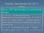 studies spa therapy for lbp in turkey