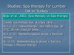studies spa therapy for lumber oa in turkey