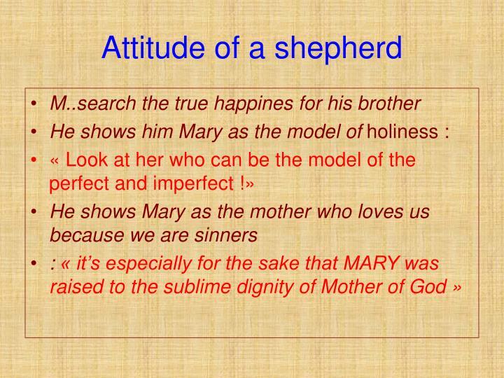 Attitude of a shepherd