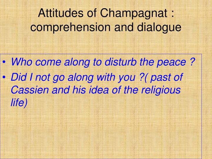 Attitudes of Champagnat :