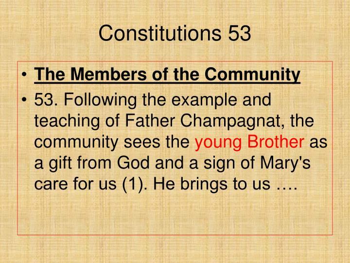 Constitutions 53