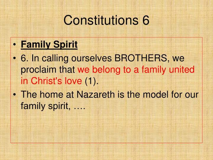Constitutions 6