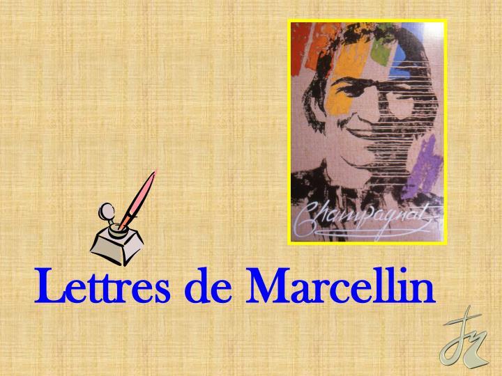 Lettres de Marcellin