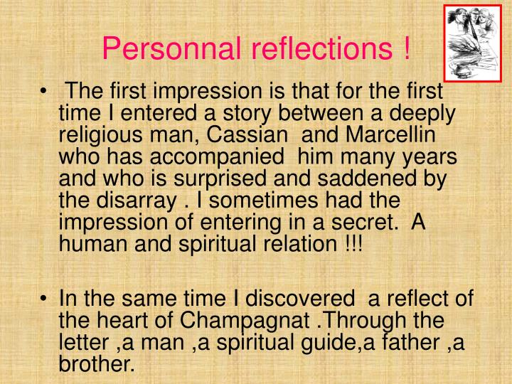 Personnal reflections !