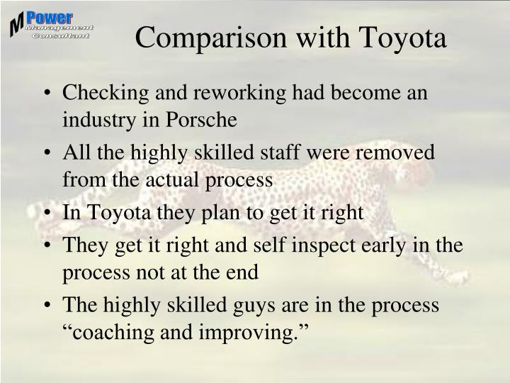 Comparison with Toyota