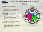 how oci is used in lloyds banking group