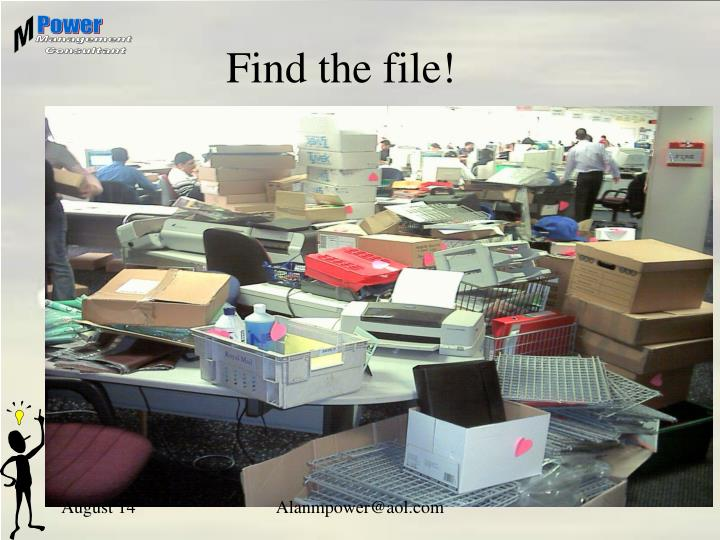 Find the file!