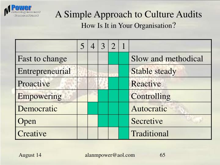 A Simple Approach to Culture Audits