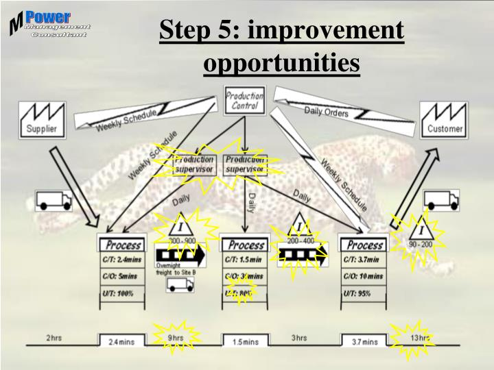 Step 5: improvement opportunities