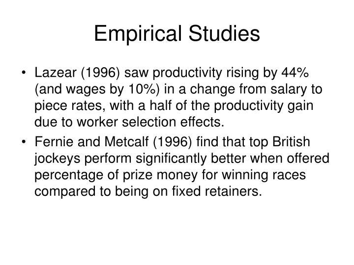 Empirical Studies