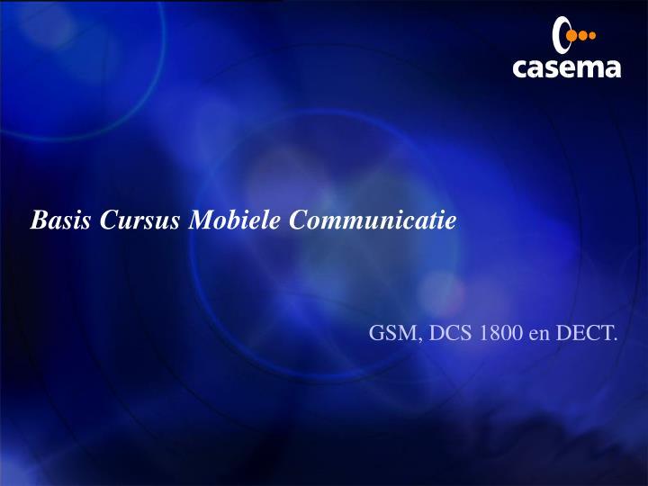 Basis Cursus Mobiele Communicatie