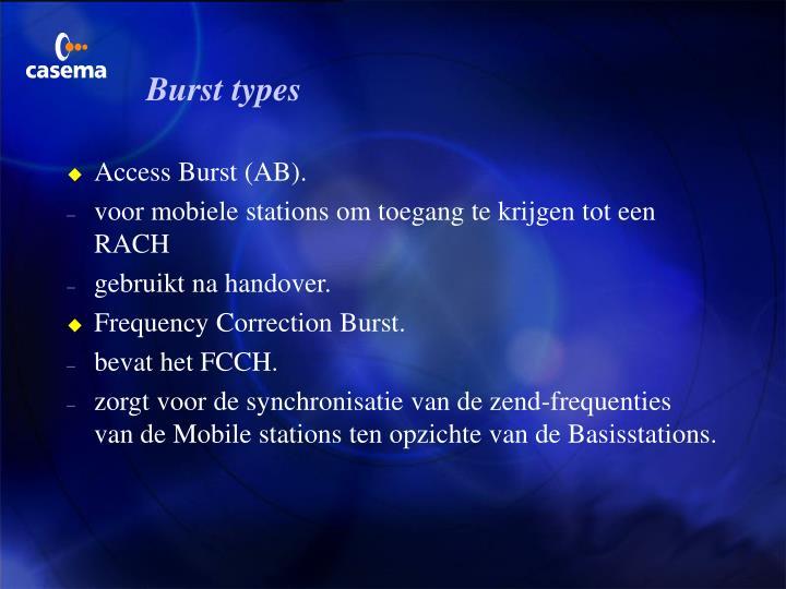 Burst types