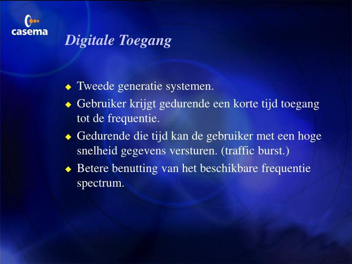 Digitale Toegang