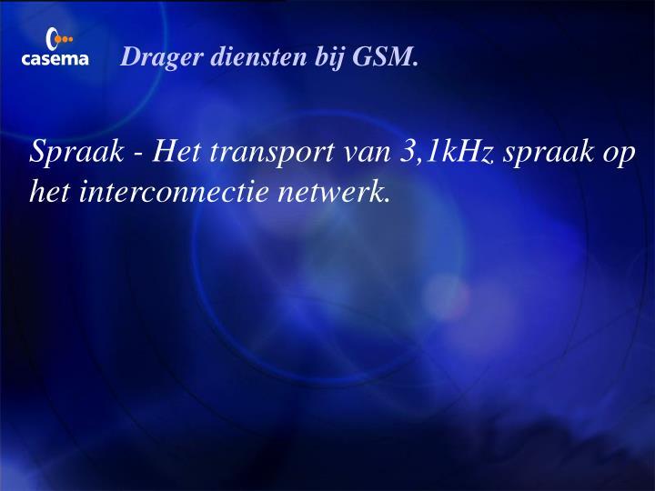 Drager diensten bij GSM.