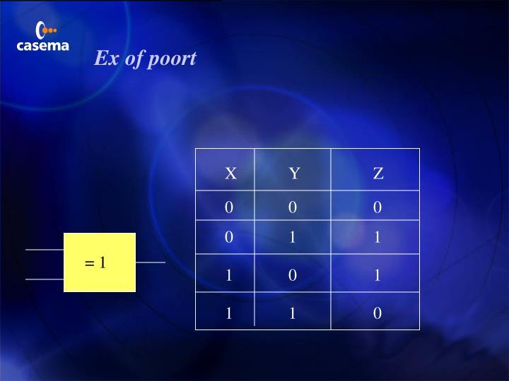Ex of poort