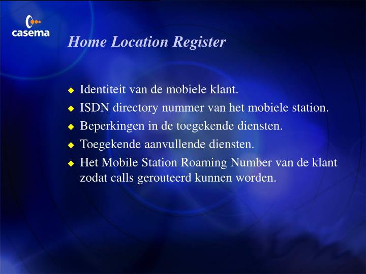Home Location Register