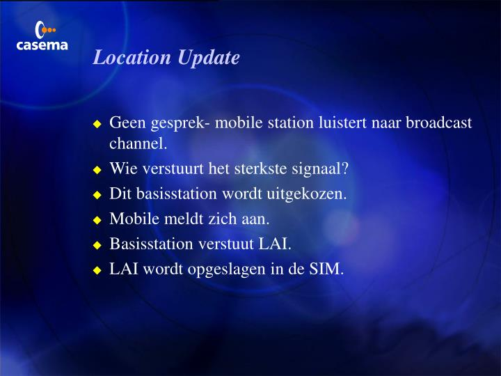 Location Update
