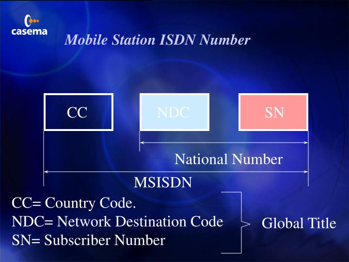 Mobile Station ISDN Number