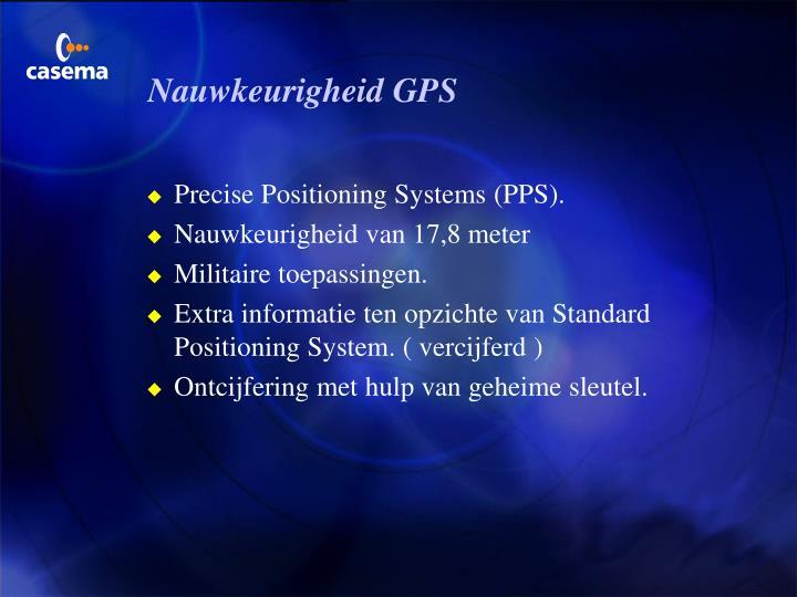 Nauwkeurigheid GPS