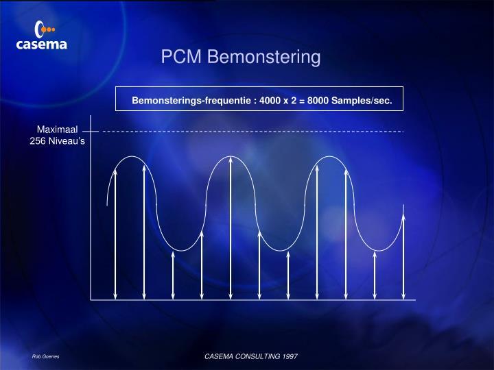 PCM Bemonstering