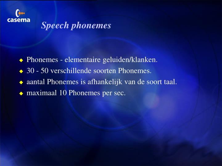 Speech phonemes