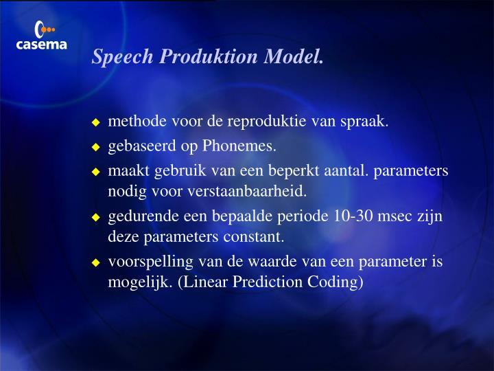 Speech Produktion Model.