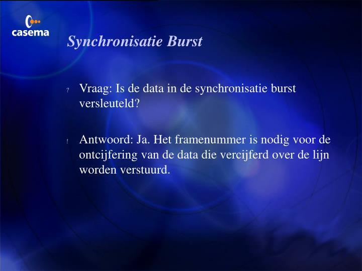 Synchronisatie Burst