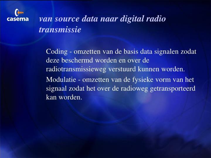van source data naar digital radio transmissie