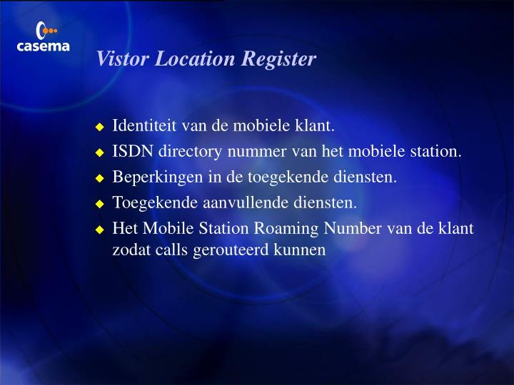 Vistor Location Register