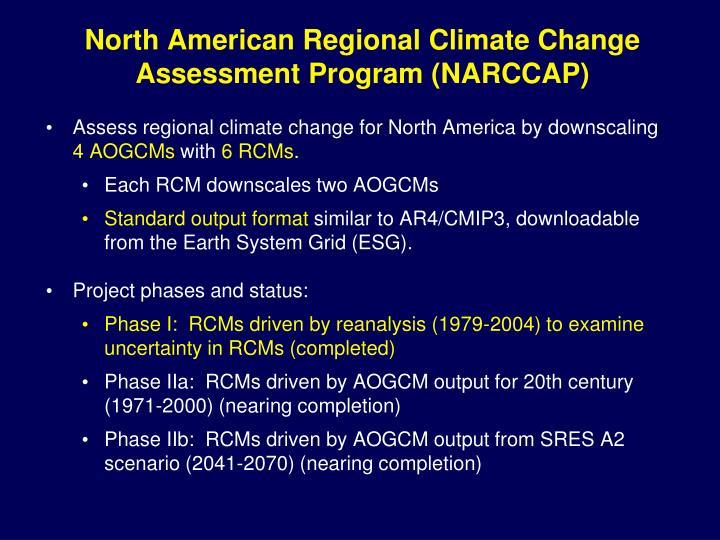 North American Regional Climate Change Assessment Program (NARCCAP)