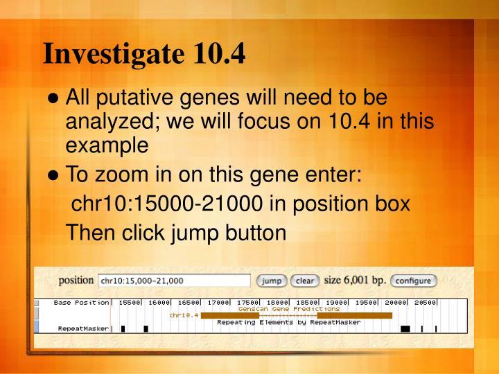 Investigate 10.4