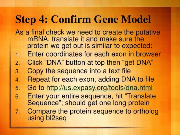 Step 4: Confirm Gene Model