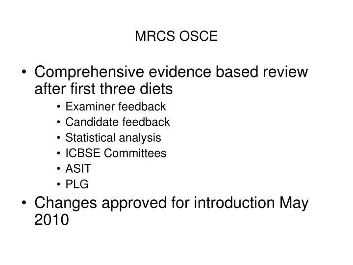 MRCS OSCE