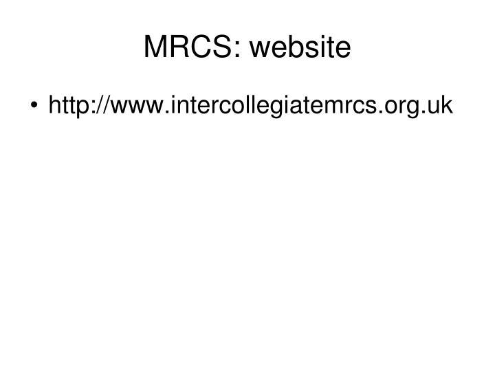 MRCS: website