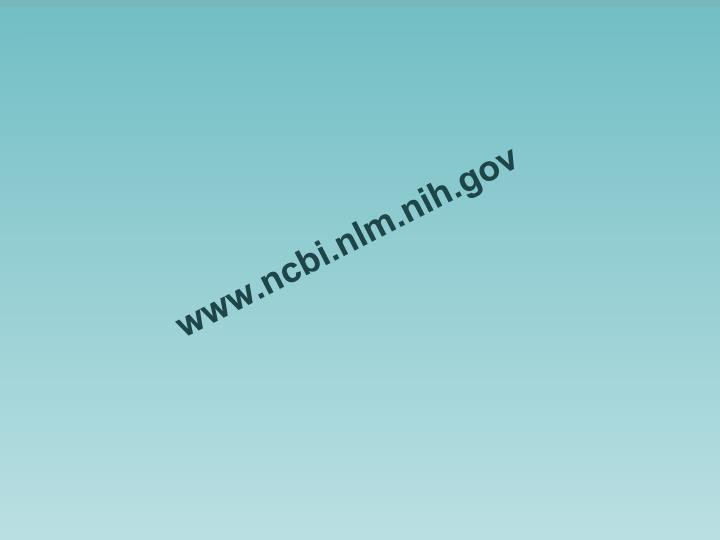 Www ncbi nlm nih gov