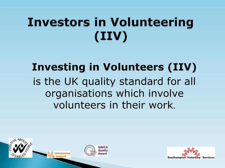 Investors in Volunteering (IIV)