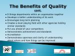 the benefits of quality cont